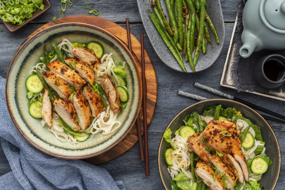 Thai-Inspired Seared Chicken Noodle Salad