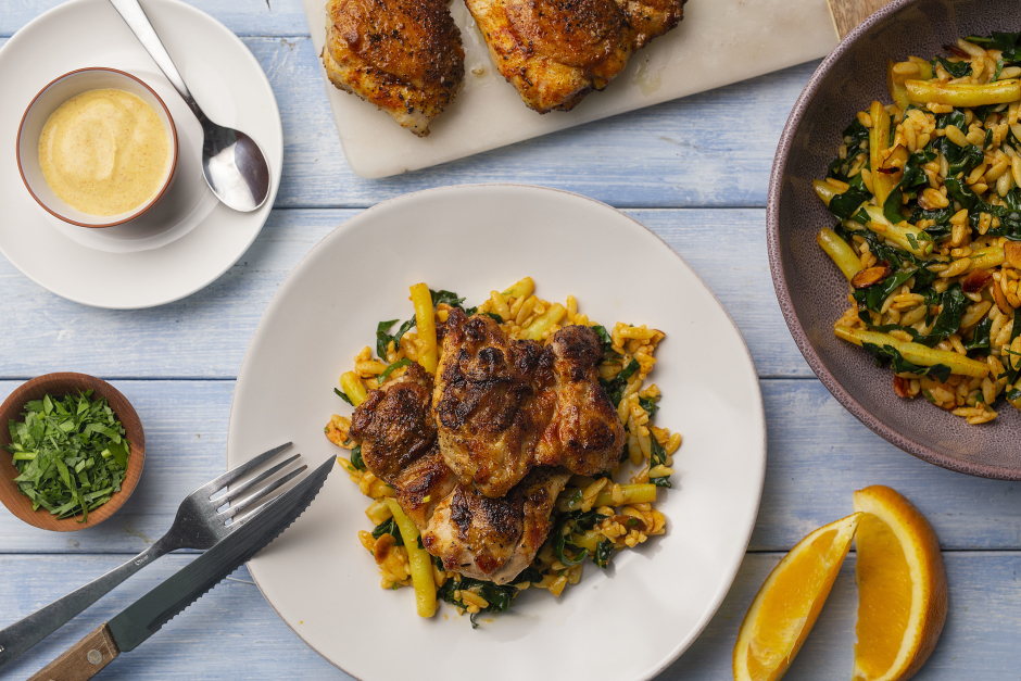 Paprika Chicken with Spiced Crema