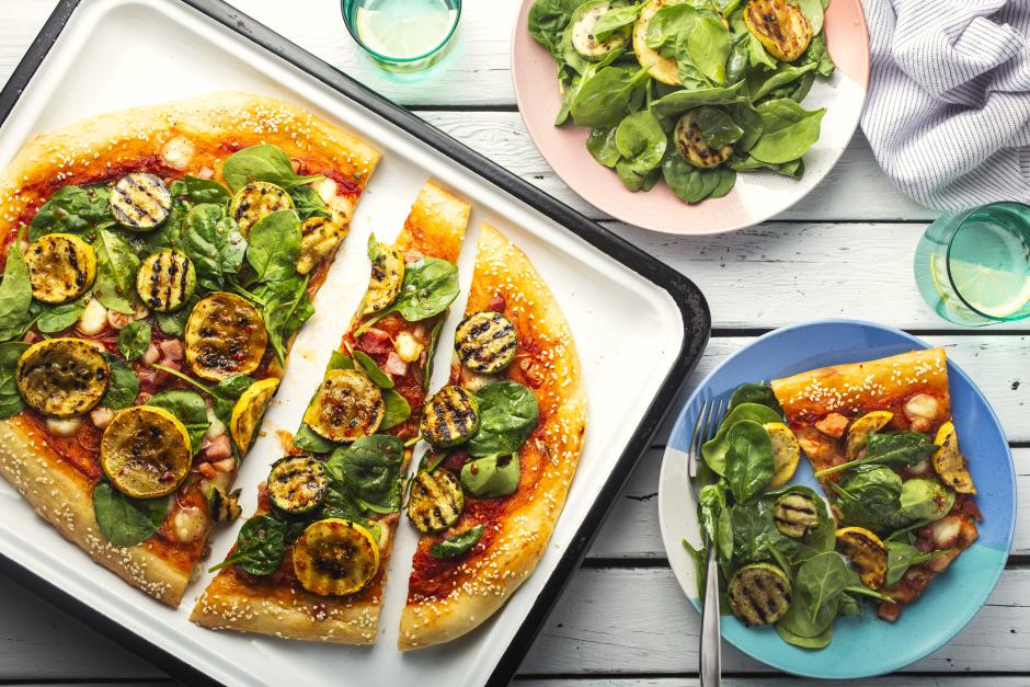 Pancetta & Summer Squash Flatbread