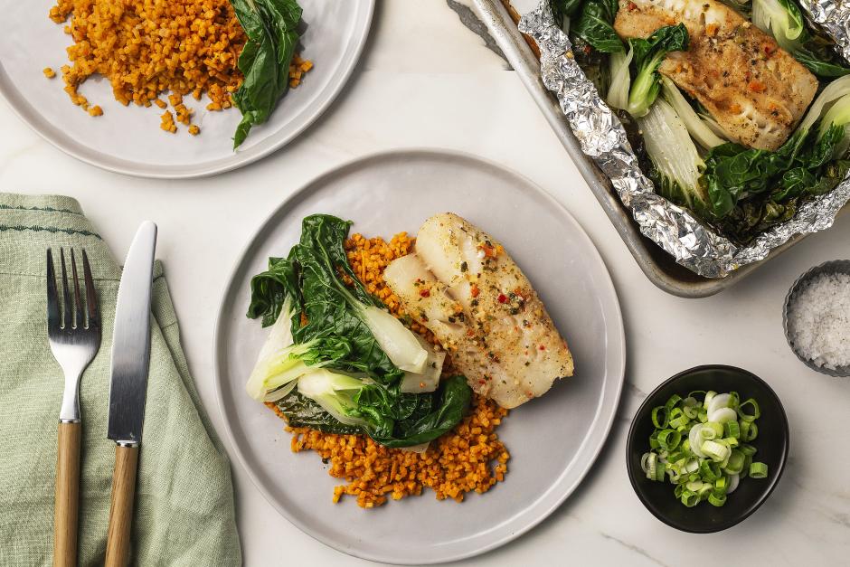 Ginger-Soy Steamed Cod