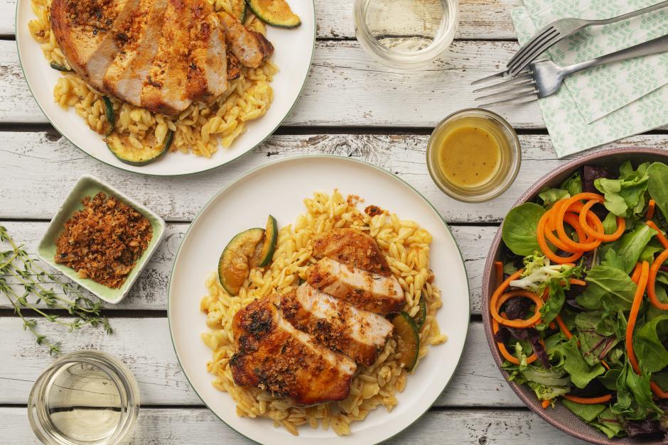 Summer Pork Chops with Paprika-Garlic Butter