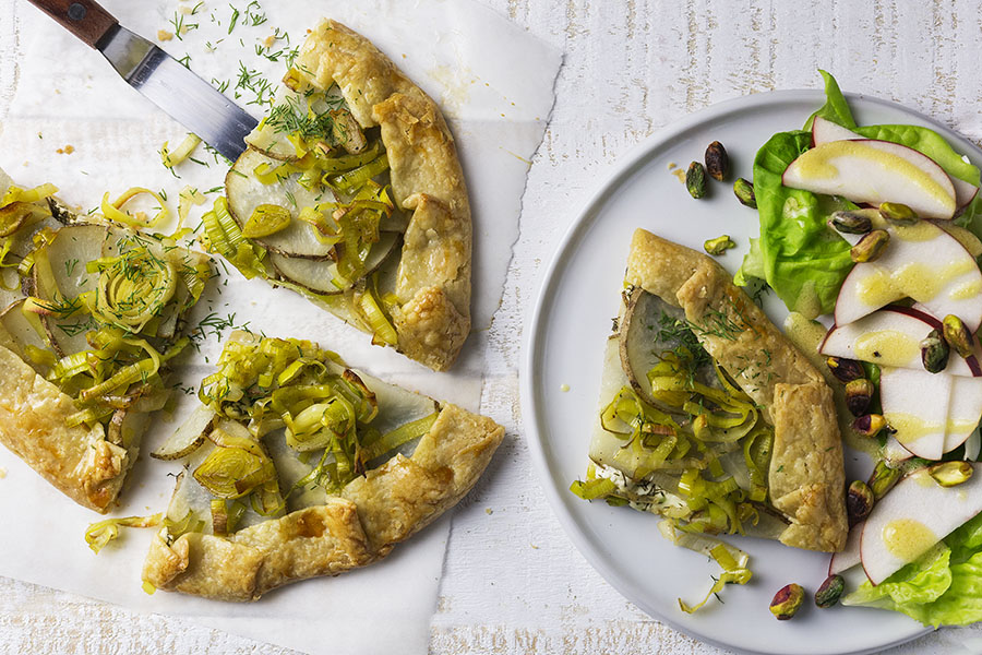 Leek, Potato & Goat Cheese Galette