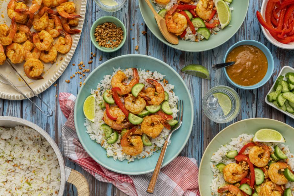 Shrimp Satay Buddha Bowls