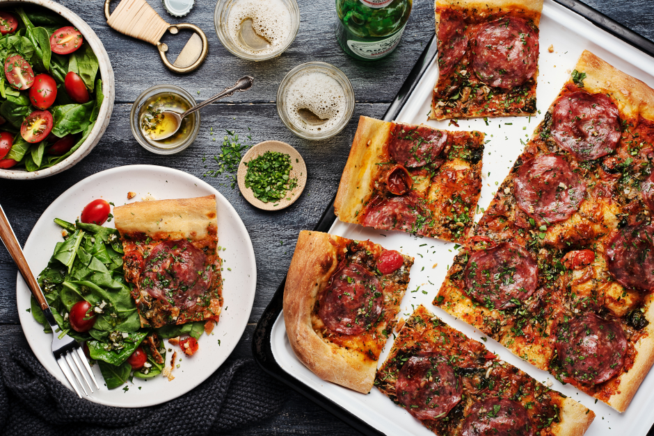 Genoa Salami Sheet-Pan Pizza