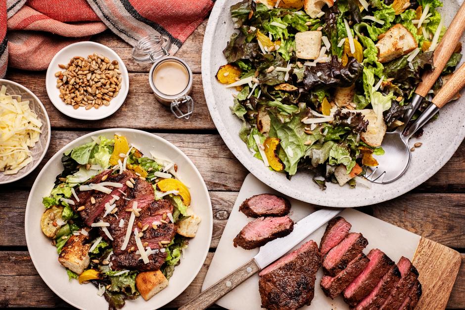 Steak & Roasted Beets Panzanella