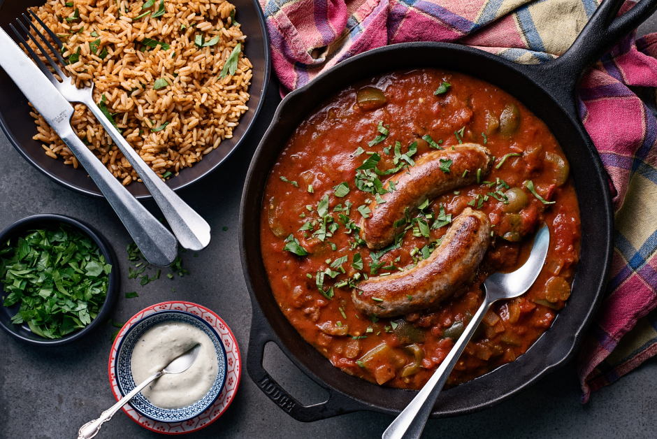 Cajun Sausage Gumbo with Spicy Aioli
