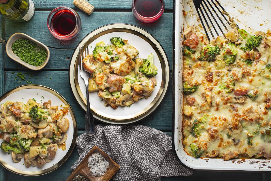 Chicken, Mushroom & Broccoli Bake