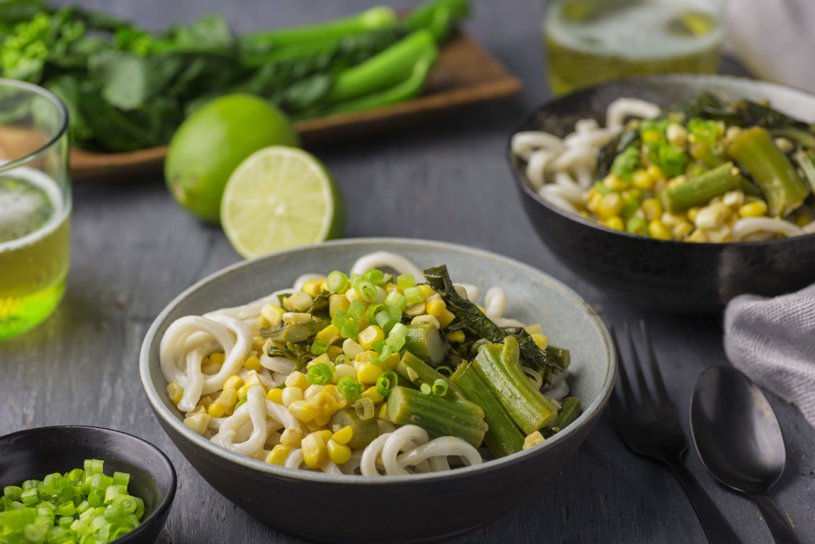 Sweet Corn & Chinese Broccoli Curry