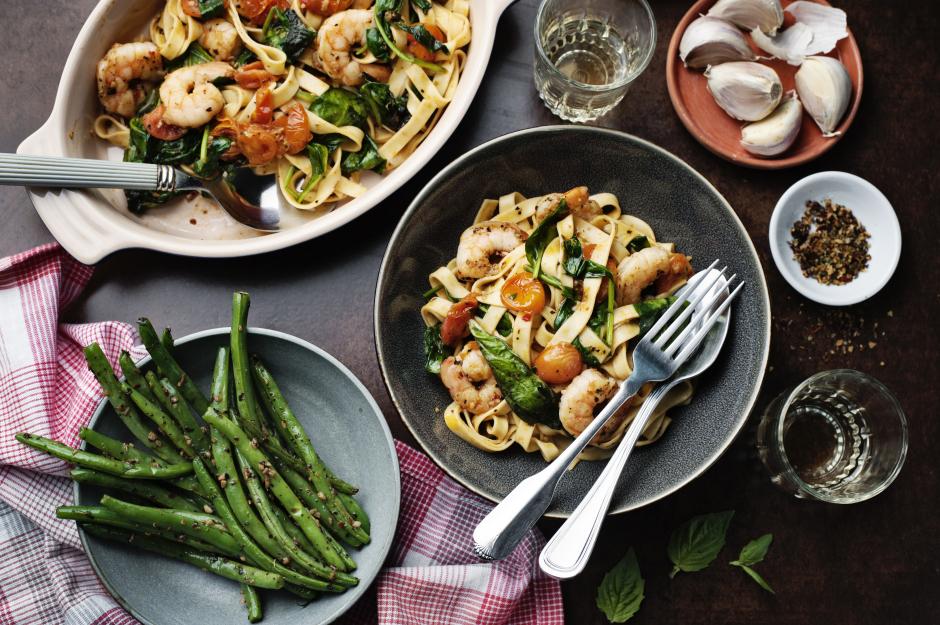 Shrimp with Fresh Tagliolini