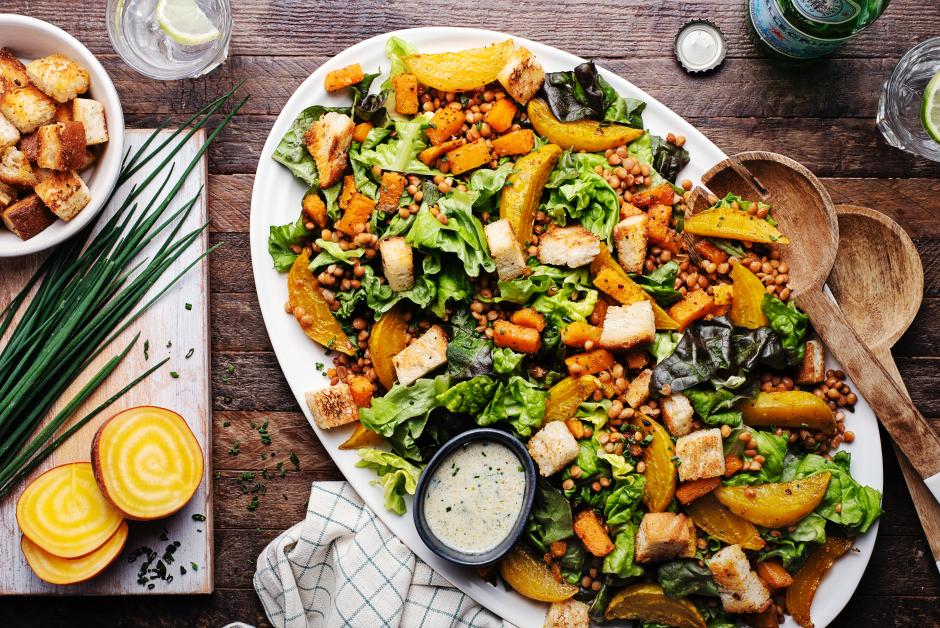 Warm Lentil Salad