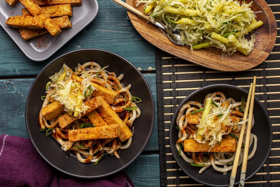 Sweet-Sour Tofu & Udon Noodles