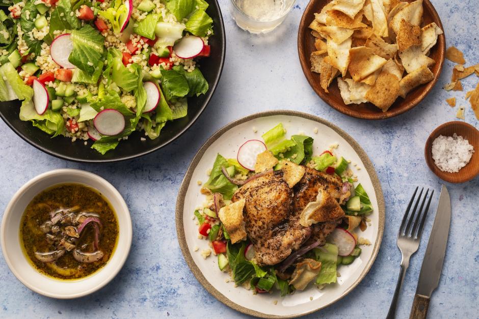 Seared Chicken Fattoush Salad