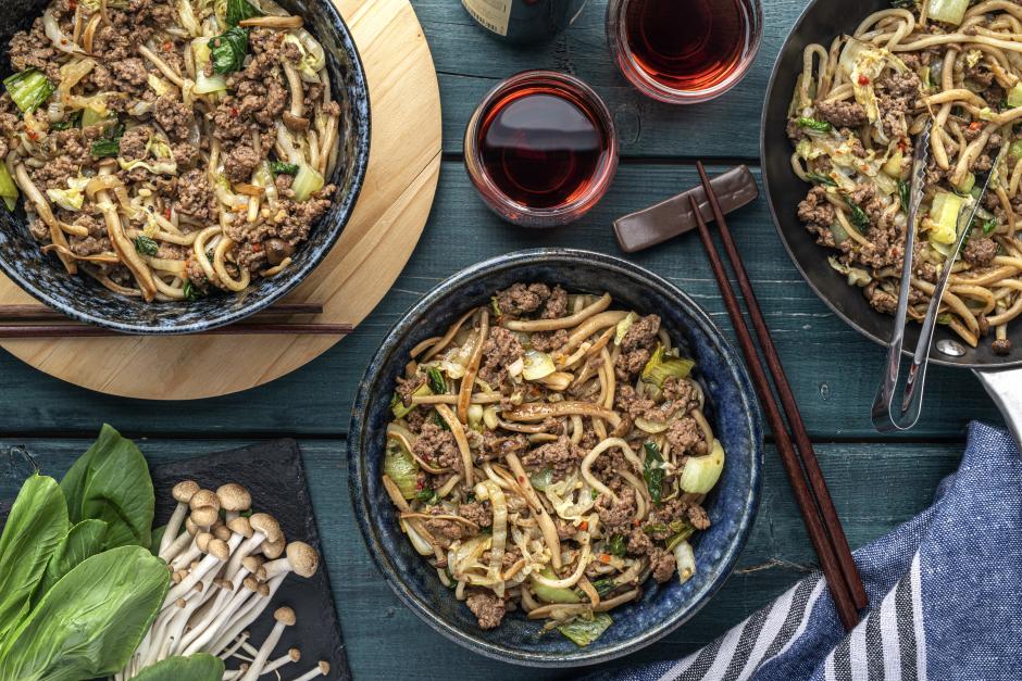 Stir-Fried Ground Beef & Premium Mushrooms