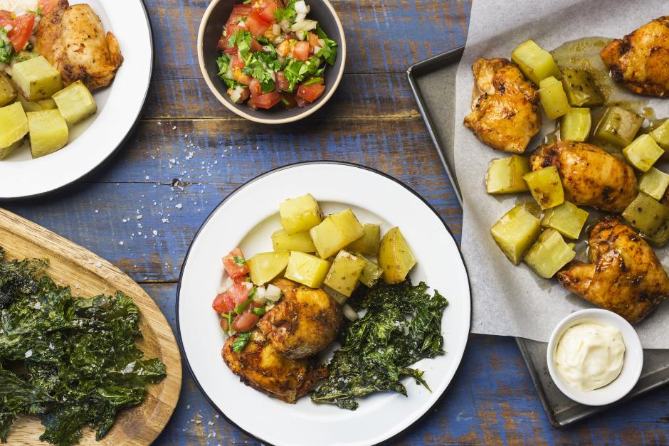Peruvian Chicken Thighs & Potatoes