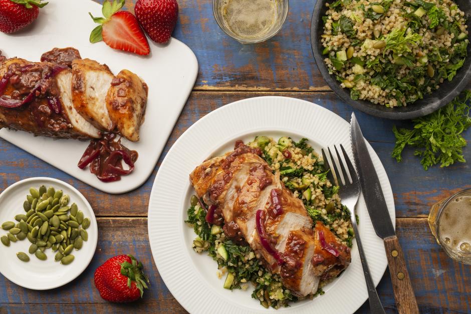 Sticky Strawberry & Balsamic-Glazed Chicken