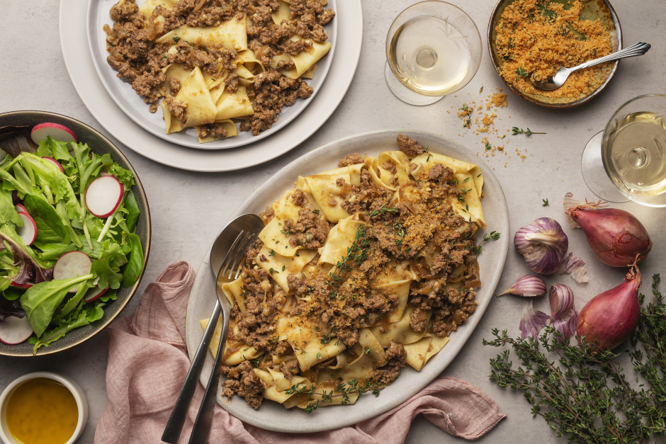 French Onion Soup Pappardelle