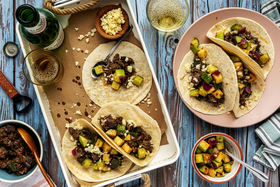Ground Beef & Poblano Tacos