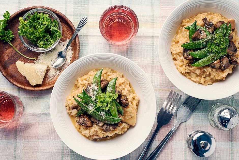 Two-Mushroom Risotto