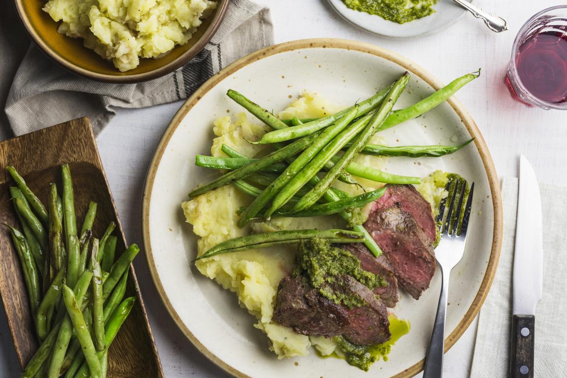 Steak & pesto de basilic