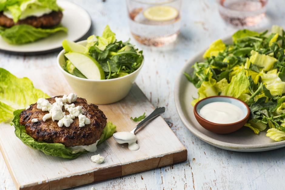 Spiced Pork Lettuce 'Burgers'