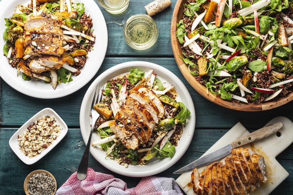 Chicken, Apple & Hazelnut Salad
