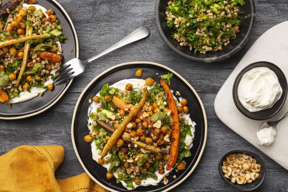 Honey-Roasted Chickpeas & Carrots