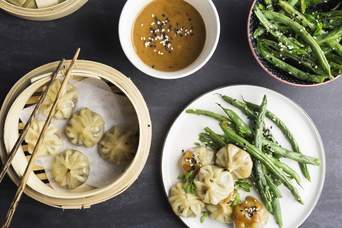 Raviolis chinois au beurre d'arachide