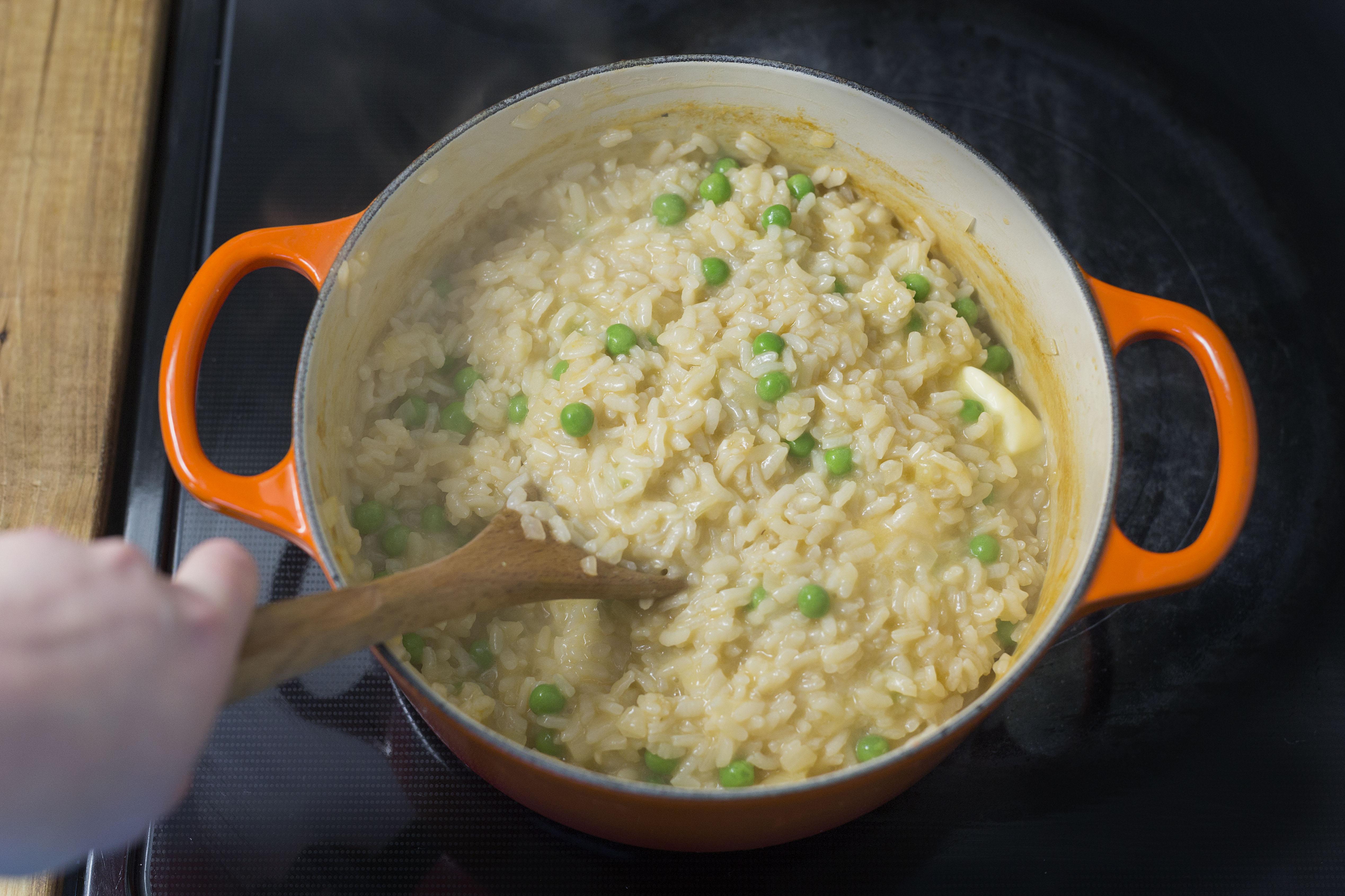 Risotto la courge r tie avec petits pois sauge - Cuisiner avec la sauge ...