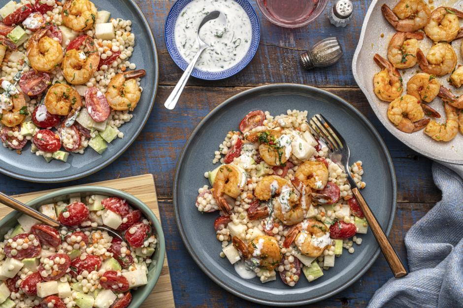 Seared Shrimp & Pearl Couscous Salad