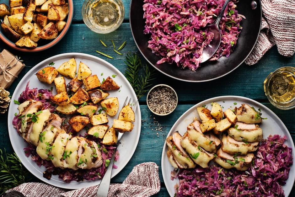 Aged Cheddar & Caramelized Onion Pork Chops