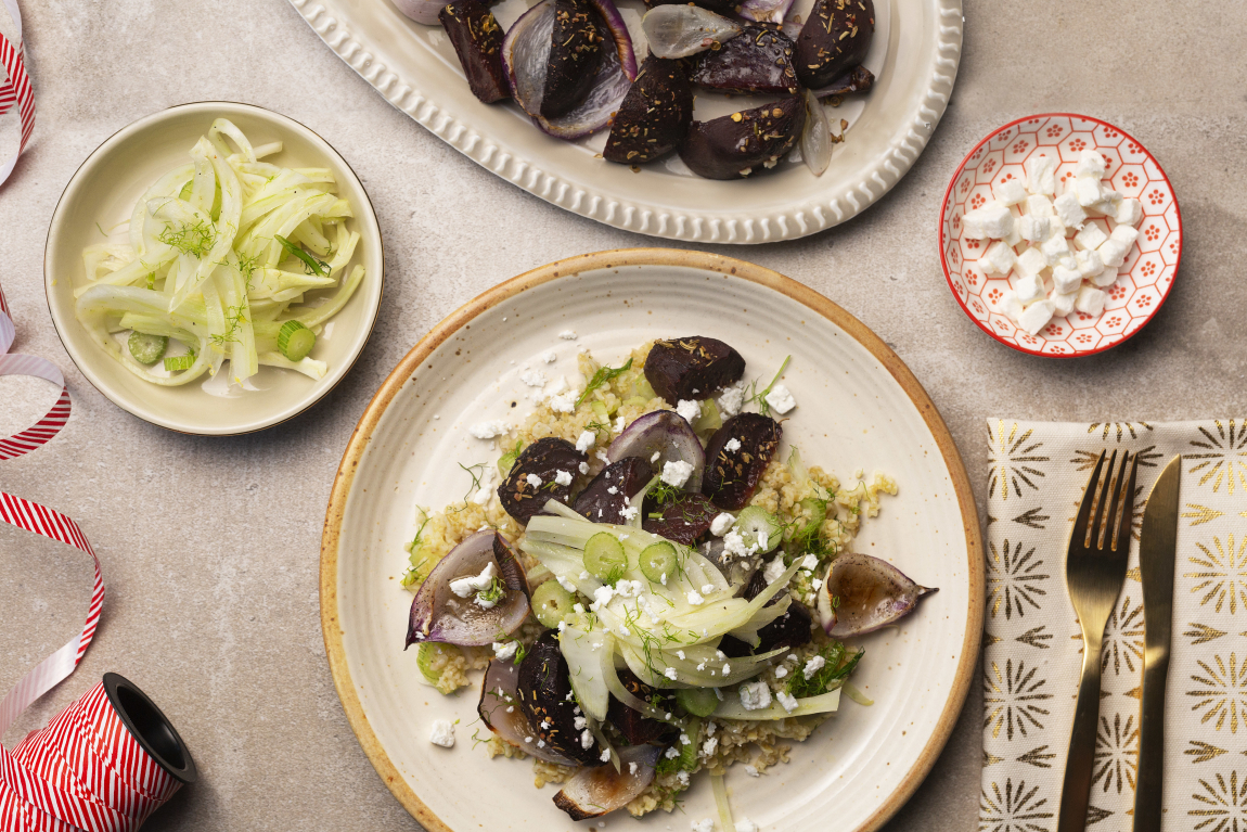 Spiced Beets with Marinated Fennel