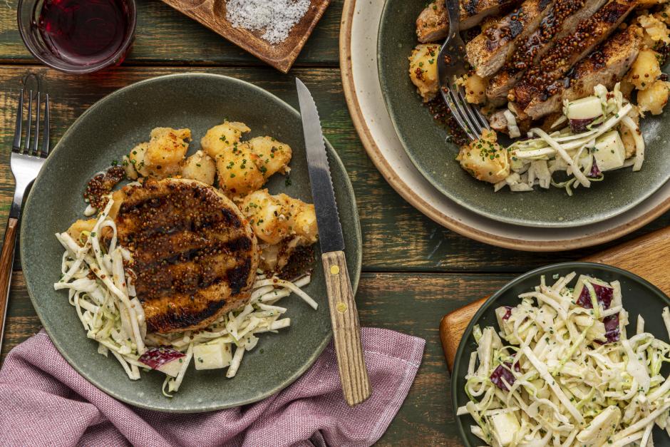 BBQ Pork Chops in Honey, Citrus & Mustard Sauce