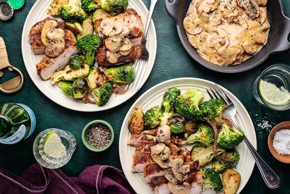 Creamy Miso-Mushroom Pork Chops