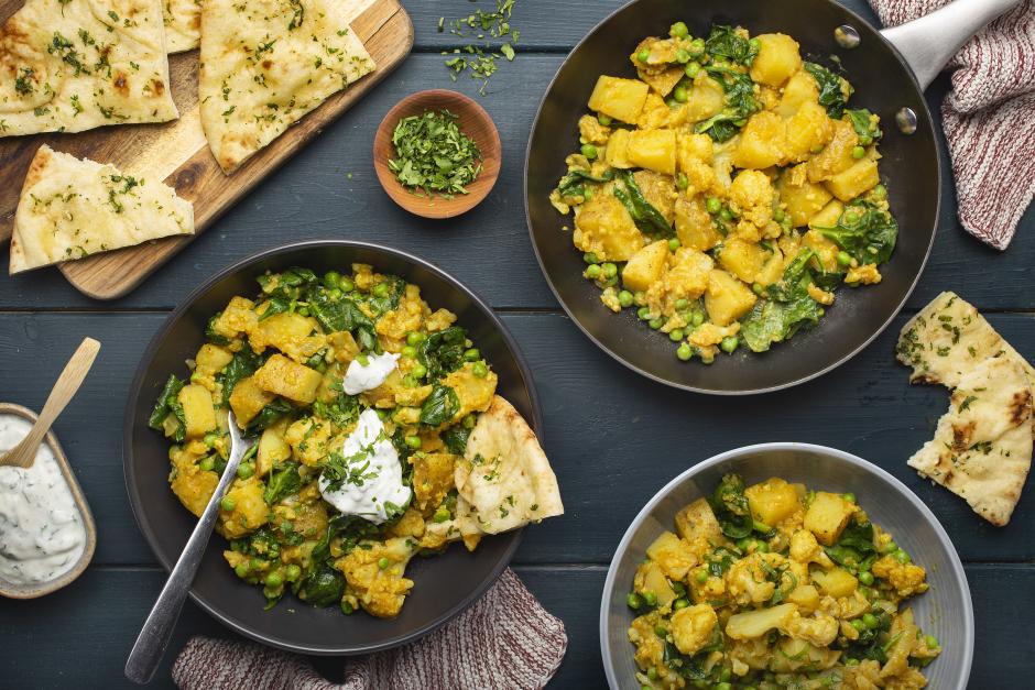 Mellow Yellow Cauliflower & Potato Curry