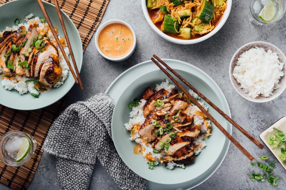 Korean-Style Chicken in Creamy Gochujang Sauce