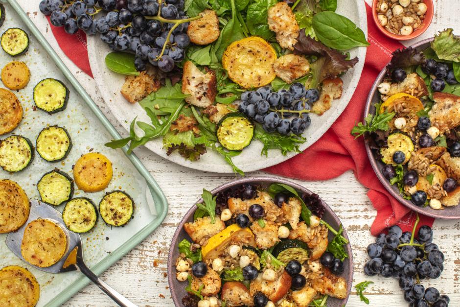 Late-Summer Panzanella with Concord Grapes