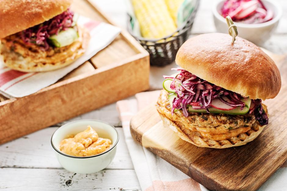 Piri-Piri Chicken Burgers