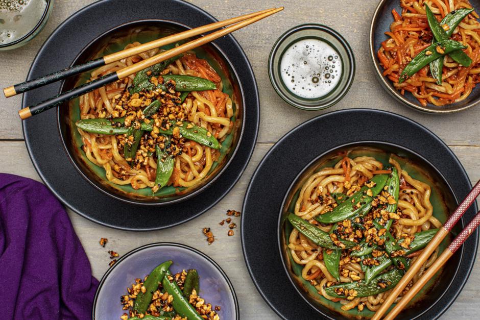 Teriyaki-Glazed Veggie Noodles