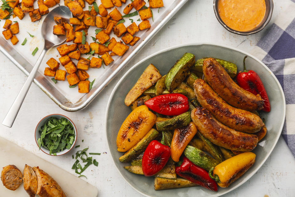 Spanish Sausages with Baby Peppers