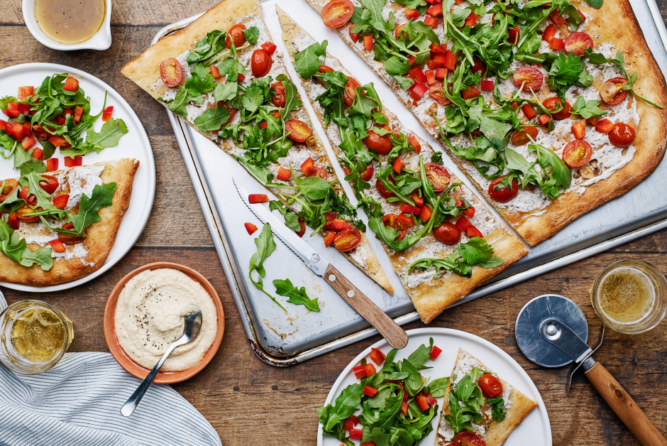 Za'atar-Spiced Cherry Tomato Flatbread