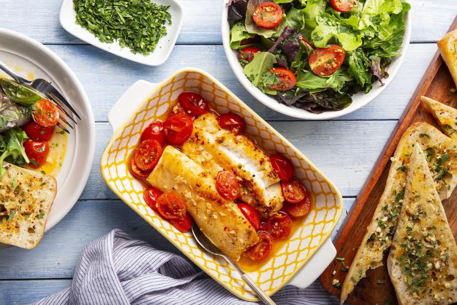Summer Tomato Baked Cod