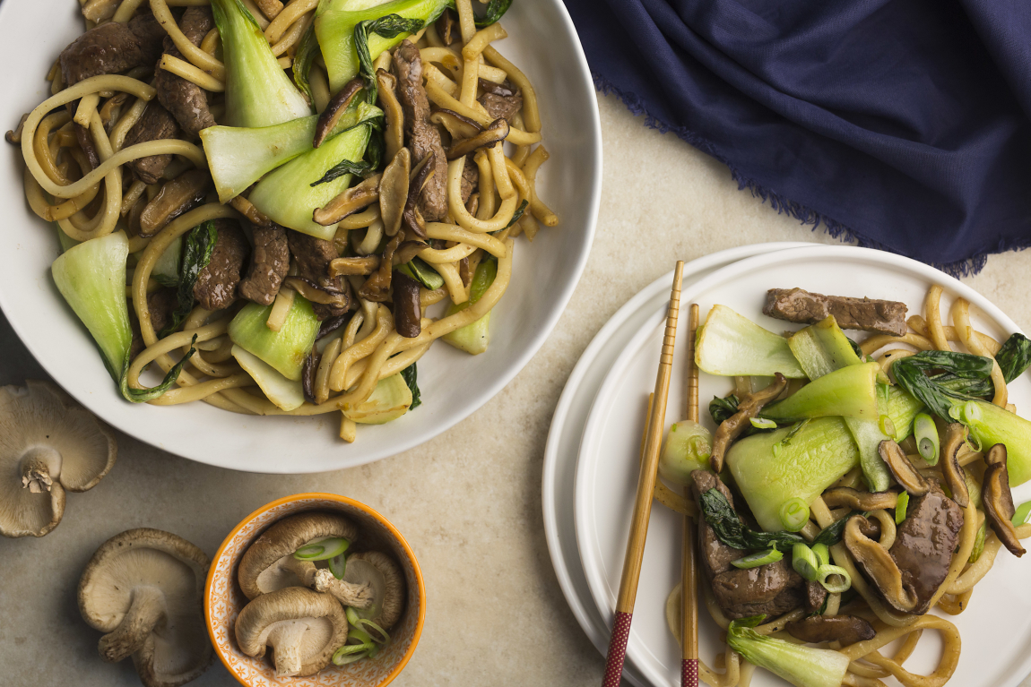 Seared Beef with Fresh Udon Noodles