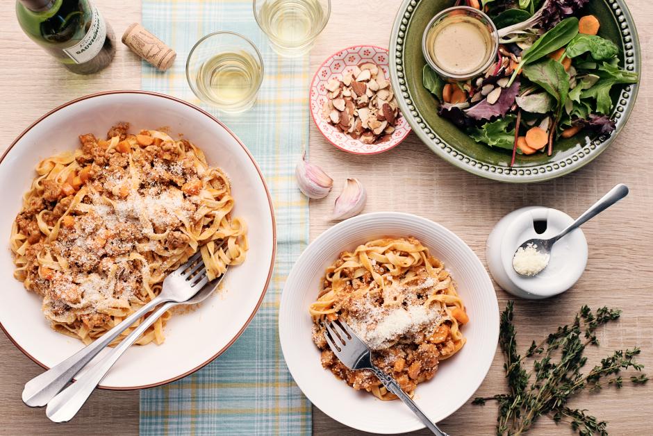 Fresh Tagliolini with Tuscan Sausage Ragu