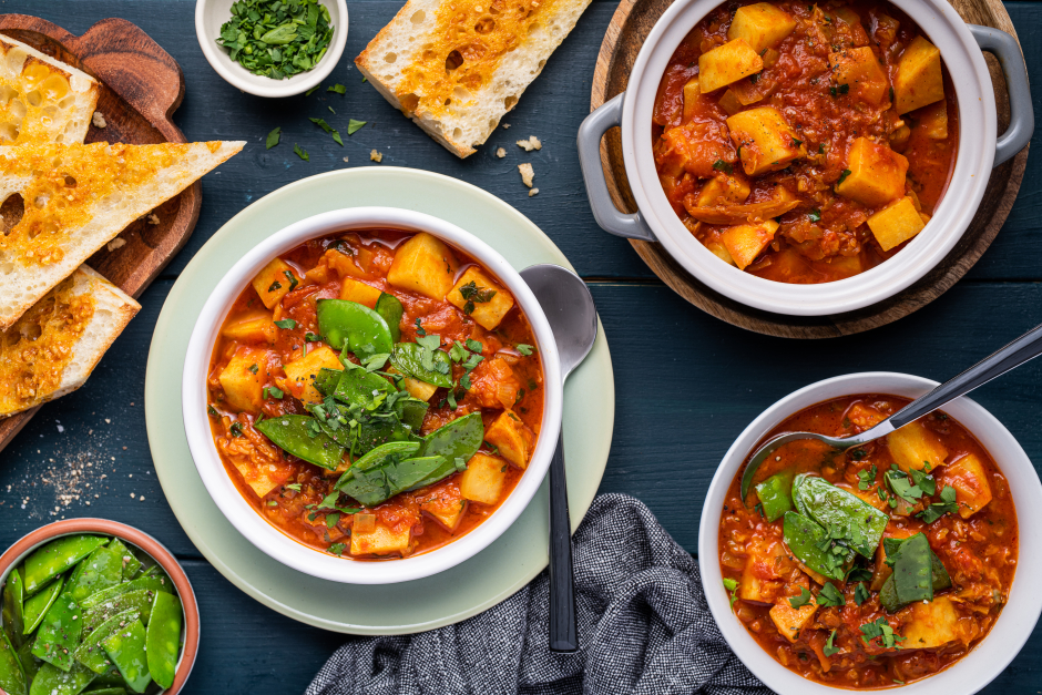Hearty Winter Goulash with Savoy Cabbage & Celery Root