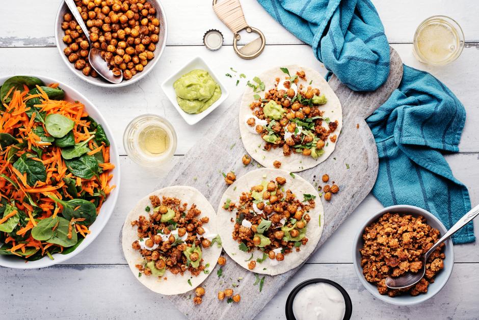 Homemade Chorizo & Chickpea Tacos