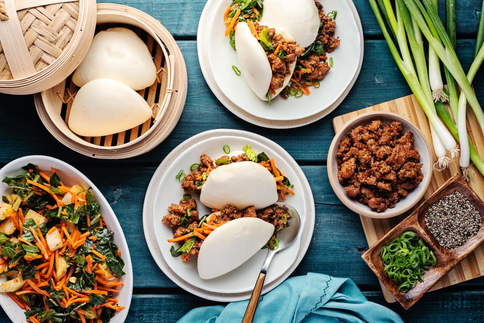 Char Siu Ground Pork Bao Buns