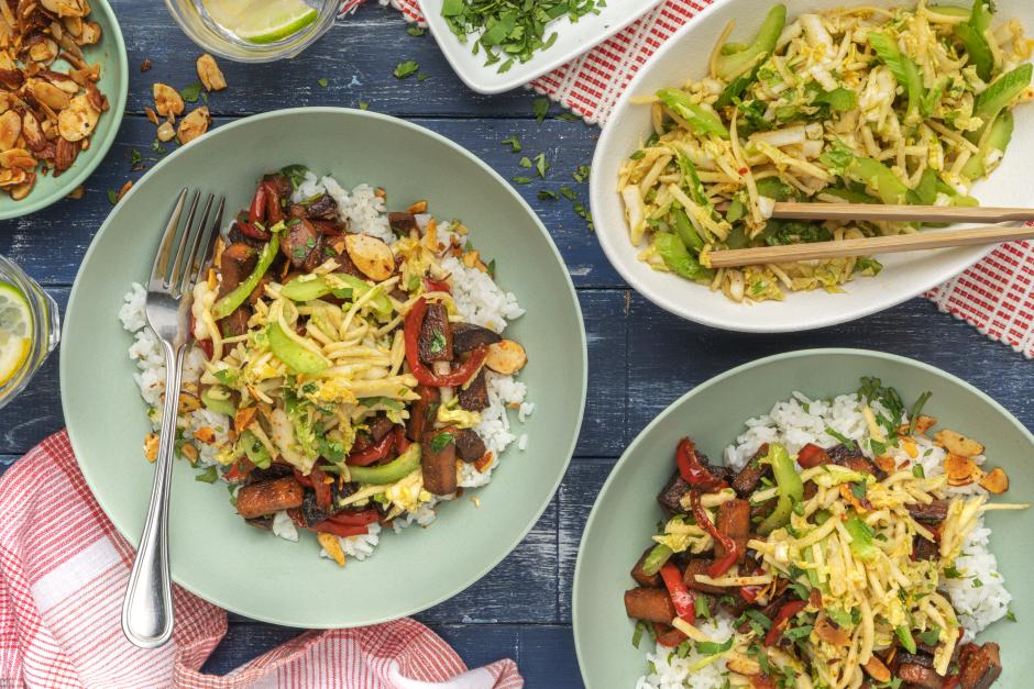 Asian-Spiced Sweet Potato & Sticky Rice Bowls
