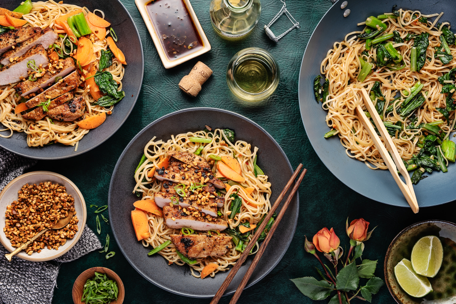 Vietnamese-Style Pork Chop Bún Bowls