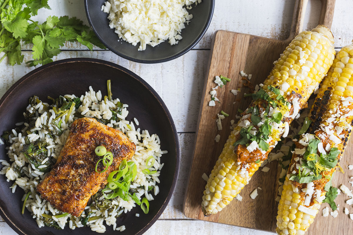Blackened Haddock with Herbed Rice
