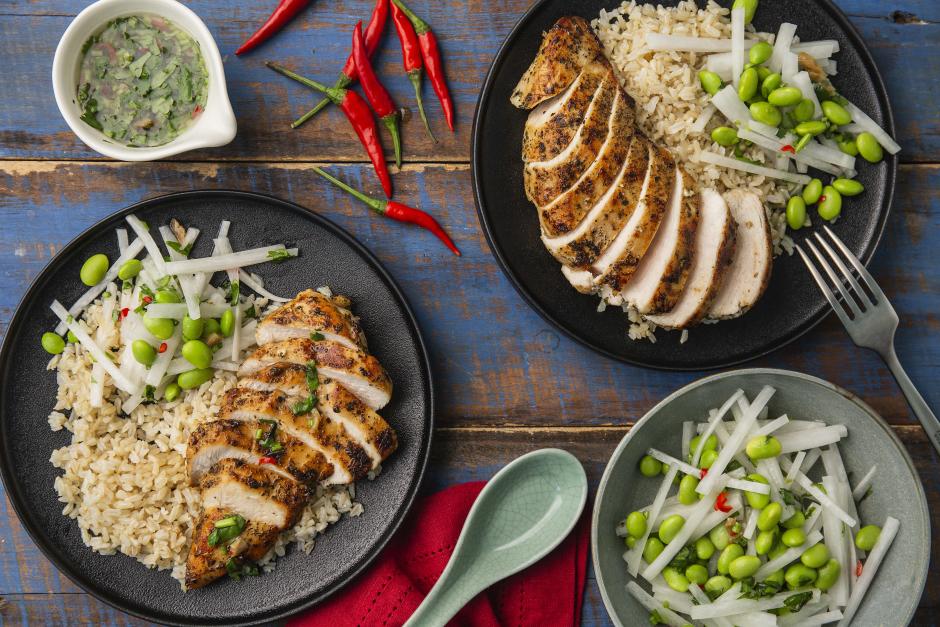 Thai Pan-Fried Chicken with Nam Jim
